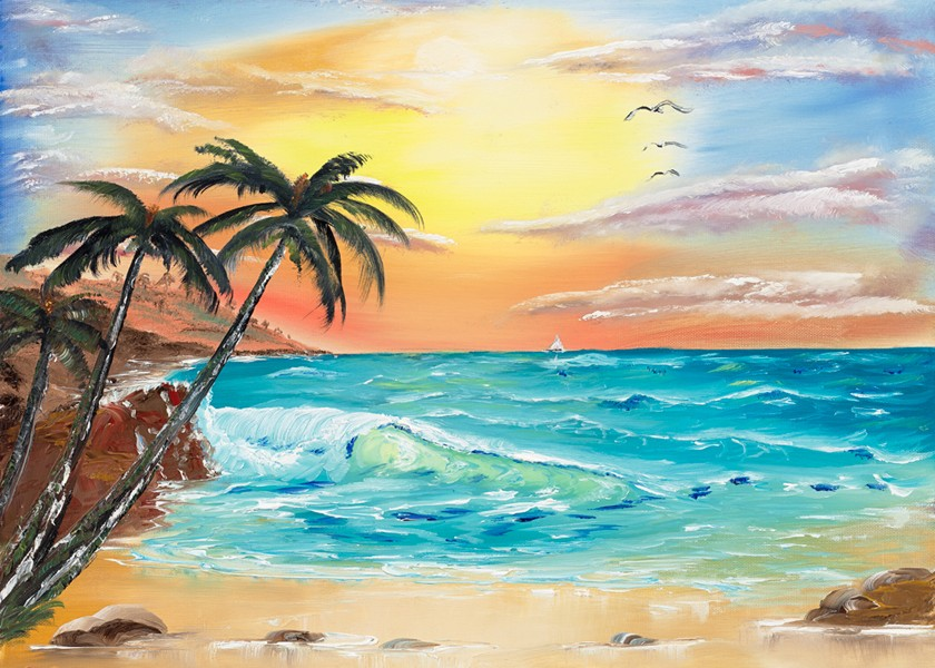 tropical sun phil rouse oil paintings